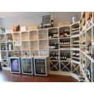 Une combinaison de réfrigérateurs et casiers de vin est tout à fait possible.