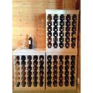Étagères à vin Muscat blanc perlées sont bien adaptés à l'empilement.